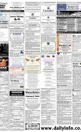 Daily Info printed sheet Sat 28/1 2006