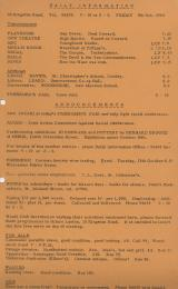 Daily Info printed sheet Fri 9/10 1964