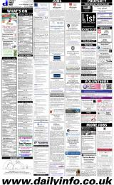 Daily Info printed sheet Fri 13/3 2015