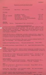 Daily Info printed sheet Mon 5/10 1964