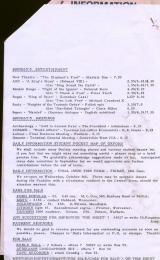 Daily Info printed sheet Tue 15/6 1965