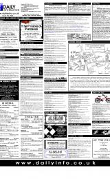 Daily Info printed sheet Wed 24/1 2001