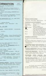 Daily Info printed sheet Thu 27/1 1966