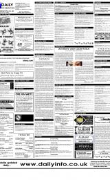 Daily Info printed sheet Thu 4/5 2000