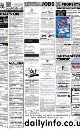 Daily Info printed sheet Sat 25/2 2012