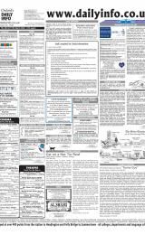 Daily Info printed sheet Thu 4/3 2004