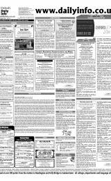 Daily Info printed sheet Thu 29/1 2004