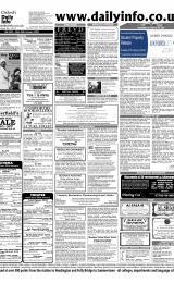 Daily Info printed sheet Sat 24/1 2004