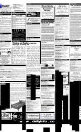 Daily Info printed sheet Mon 29/1 2001
