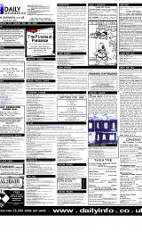 Daily Info printed sheet Wed 31/1 2001