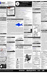 Daily Info printed sheet Thu 1/2 2001