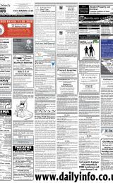 Daily Info printed sheet Thu 24/1 2008
