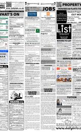 Daily Info printed sheet Thu 26/1 2012