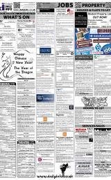 Daily Info printed sheet Sat 21/1 2012