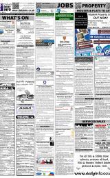 Daily Info printed sheet Sat 28/1 2012