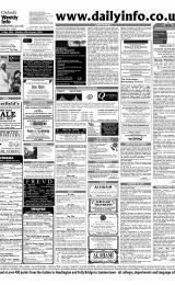 Daily Info printed sheet Fri 16/1 2004