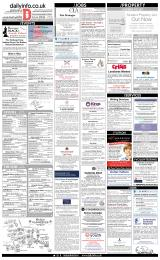 Daily Info printed sheet Tue 26/3 2019
