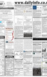 Daily Info printed sheet Sat 19/2 2005