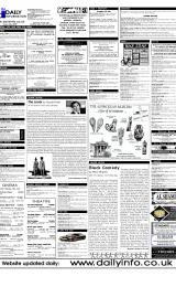 Daily Info printed sheet Thu 15/6 2000