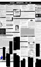 Daily Info printed sheet Thu 25/1 2001