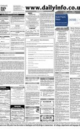 Daily Info printed sheet Tue 20/1 2004