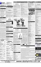 Daily Info printed sheet Thu 8/6 2000