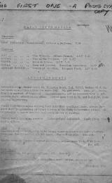 Daily Info printed sheet Mon 28/9 1964