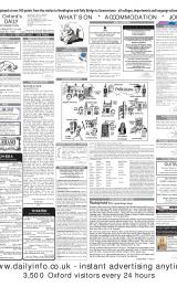 Daily Info printed sheet Wed 19/2 2003