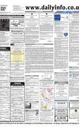 Daily Info printed sheet Sat 21/2 2004