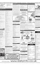 Daily Info printed sheet Tue 15/1 2002