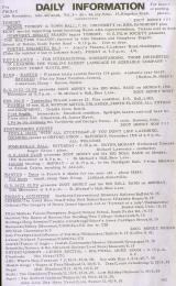 Daily Info printed sheet Fri 12/11 1965