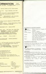 Daily Info printed sheet Sat 29/1 1966