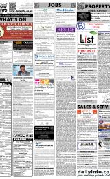 Daily Info printed sheet Thu 20/1 2011