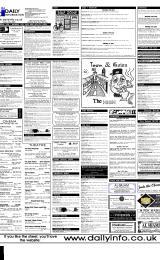 Daily Info printed sheet Fri 9/6 2000