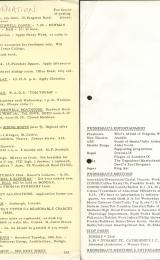 Daily Info printed sheet Wed 19/1 1966