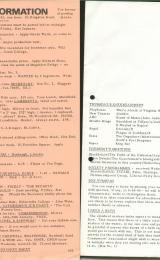 Daily Info printed sheet Thu 20/1 1966