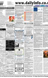 Daily Info printed sheet Sat 6/3 2004