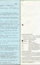 Daily Info printed sheet Mon 24/1 1966