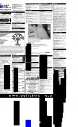 Daily Info printed sheet Tue 23/1 2001