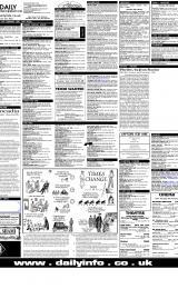 Daily Info printed sheet Thu 8/2 2001