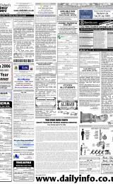 Daily Info printed sheet Thu 19/1 2006