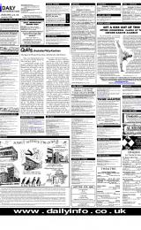 Daily Info printed sheet Wed 7/2 2001