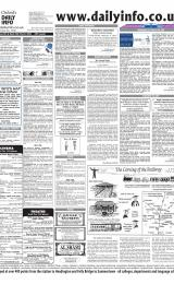 Daily Info printed sheet Tue 9/3 2004