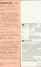Daily Info printed sheet Mon 31/1 1966