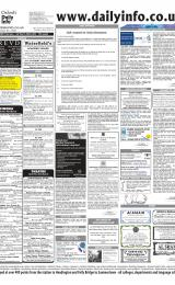 Daily Info printed sheet Sat 28/2 2004