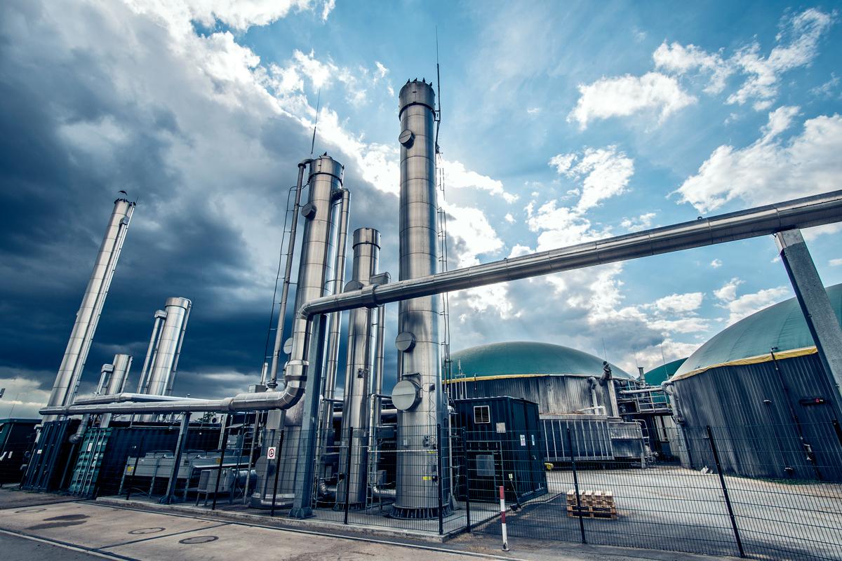 Biomethane biogas site