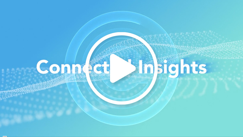 Connected insights video graphic
