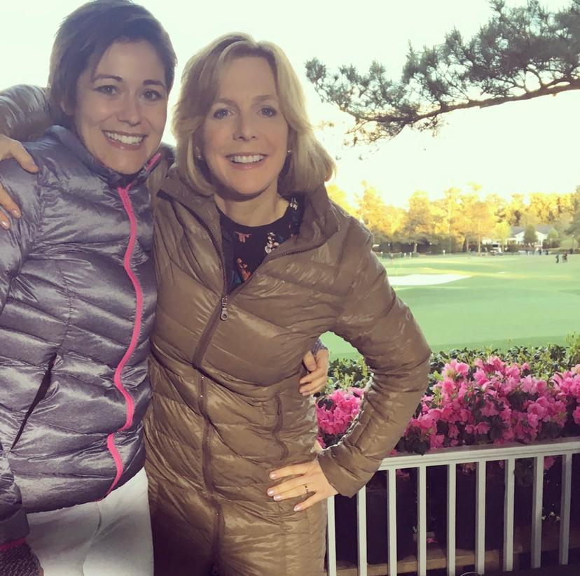 Eilidh Barbour with Hazel at the Masters