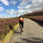 Climbing through the heather