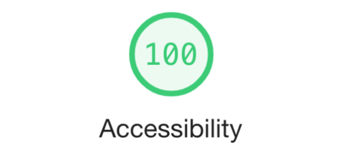 An Image of Google Lighthouse Accessibility Audit 100%